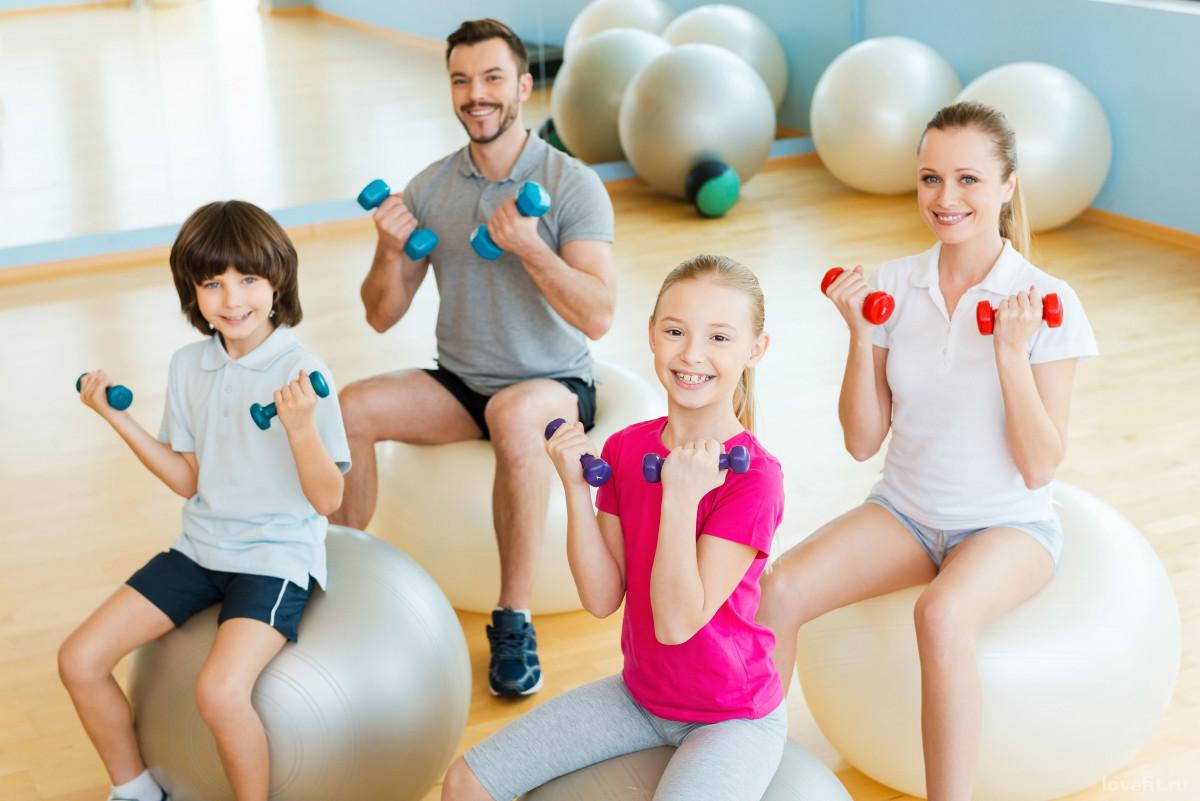 Преимущества семейного фитнеса